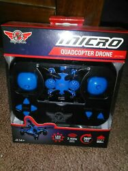 SKY RIDER MICRO QUADCOPTER DRONE BLUE or RED 360° FLIPS amp; TRICKS NEW $51.99
