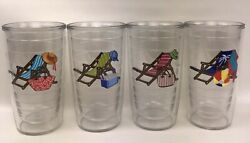 Tervis Summer Beach Chair Insulated Tumblers Cups 4 Piece Set 16 oz $39.99