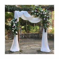 White Wedding Arch Drapes Fabric 3 Panels 6 Yards Sheer Backdrop Curtains for... $48.79