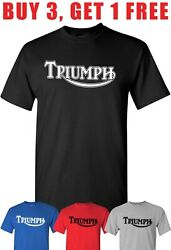 T Shirt Motorcycle T Shirt compatible With Triumph tee $14.95