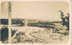 Lampson WI. 1900#x27;s RPPC Postcard Looking East From public School Lampson Wis. $9.40