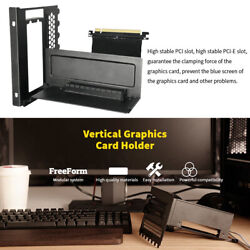 GPU Bracket Accessories PCIe Slot Vertical Graphics Card Holder Steel Shockproof $71.23