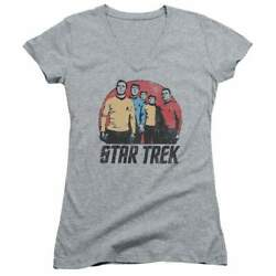 Star Trek Landing Party Juniors V Neck T Shirt $25.00