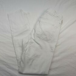Just Black Women#x27;s White Denim Jeans Size 26