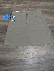 NWOT Kuhl Vala Outdoor A Line Skirt Women#x27;s 12 Medium Gray Cargo Hiking Stretchy $34.95