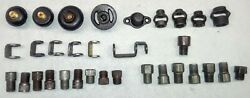 ASSORTED LOT OF VINTAGE LIGHT FIXTURE MOUNTING HARDWARE $35.00