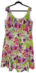 22W 3X SEXY Womens WATERCOLOR FLORAL PRINT DRESS Summer Wedding Party PLUS SIZE $49.99