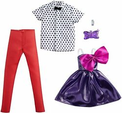 Barbie amp; Ken Fashionista Clothes Fashion Pack Formal Party Dress amp; Bow Tie Shirt $17.09