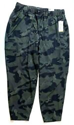 Old Navy High Waisted StretchTech Cargo Ankle Pants in Camo XL MSRP $39.99 $19.95