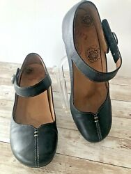 TAOS womens heel shoes size 6 med. leather upper black ANGEL ALG style $22.50