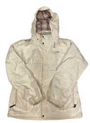 The North Face Women's White Hyvent Hooded Ski Shell Jacket Size XL $29.69