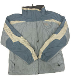 The North Face Women's Blue And White Gore Tex Ski Shell Jacket Size Large $31.49
