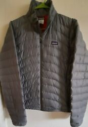 Patagonia Nano Puff Women#x27;s Quilted Jacket XL Gray Pink Lightweight FREE SHIP $99.99