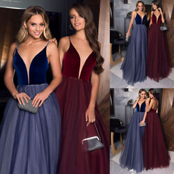 Women Sexy Off Shoulder Maxi Long Dresses Ladies Ball Grown Evening Dress Party $29.99