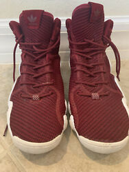 Adidas Maroon Mens High Too Sneakers 2017 Size 11 $25.00