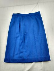 Lands#x27; End Woven Pencil Skirt Women Size 4 Blue $12.00