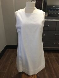 New York amp; Company Womens Shift Dress White textured Neck Sleeveless Cocktail 12 $24.00