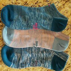 3 Pair Nike Womens Socks No Show Blues $8.49