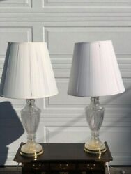 Crystal VINTAGE Lamps $150.00