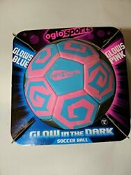 OGLO Sports Soccer Ball Glow in The Dark Pink Blue Size 4 $35.62
