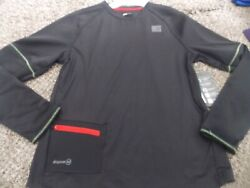 Russell boys size 14 16 long sleeve fashion top black dri power nwt $11.99
