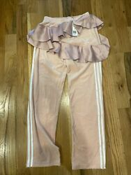 Adidas Women#x27;s Pink Track Pants Velour Skirted Size S FT9892 NWT J KOO $48.95