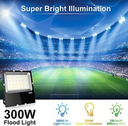 300W LED Security Light 36000LM LED Flood Light Outdoor Fixtures IP65 Waterproof