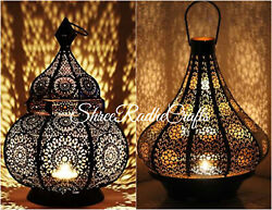 Moroccan Turkish Lamps Candle Holder Outdoors Night Light Chandelier Table Lamp $154.99