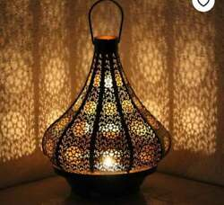 Moroccan Turkish Lamps Vintage Look Candle Holder Outdoors Chandelier Table Lamp $89.99