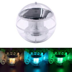 Underwater Colorful Floating Lamps Solar Power LED Spherical Shape Light Ball US $12.34