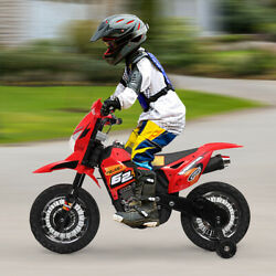 6V Kids Ride on Motorcycle Electric Battery Powered Dirt Bike W Training Wheels $100.99