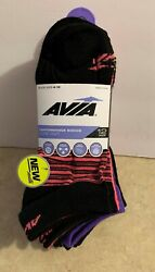 Avia Womens Socks Low Cut 12 Pair New Shoe Size 4 10 Wicking Arch Support Mesh $9.99