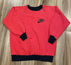 Vintage 70's Nike Orange Tag Red Blue Crewneck Sweatshirt Sz Small