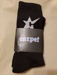 Carpet Company Swoosh Season Black C Star Socks Nike SB Brand New $29.99