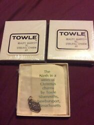 Towle Sterling 1974 12 Days Christmas Charm Pendant Mini Ornament #9 $29.00