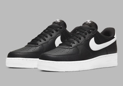 Nike Air Force 1 #x27;07 Leather Shoes Black White CT2302 002 Men#x27;s Multi Size NEW