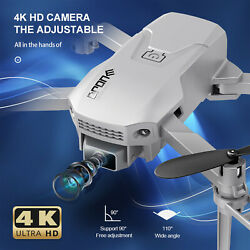H1 Mini Drones with Camera WiFi FPV 4K Drone LED Lights Quadcopter Foldable M7A7 $34.29