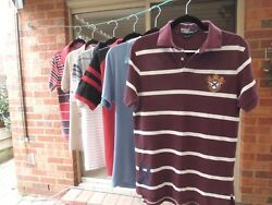 6 POLO Designer SHIRTS *Mens MEDIUM *Ralph Lauren CUTTER amp; BUCK Ted Baker etc