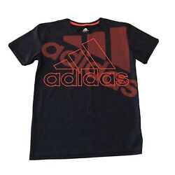 Adidas Boys Size 14 16 L Large Logo Athletic Tee T Shirt $10.95