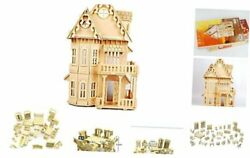 17quot; Wooden Dream Dollhouse 2 Floors with Furnitures DIY Gothic Furnitures Sets $40.03