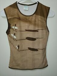 Aaron Chans Surfer Tank Top Boys Size Medium $11.99
