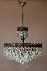 Empire Vintage Crystal Chandelier Home Decor Antique Lighting French Light lamp GBP 875.00