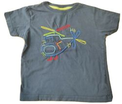 NEXT 18 24 months boy top t shirt toddler helicopter embroidered navy blue GBP 2.99