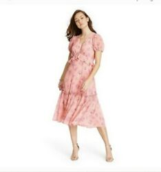 NWT Love Shack Fancy for Target Fleur Peach Dress Size 16 Floral Casual $49.99