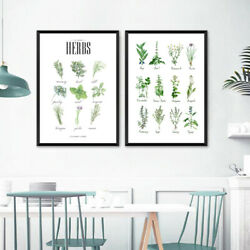 Culinary Herbs Prints Vegetable Botanical Poster Herbs Guide Kitchen Art Decor $4.21