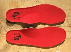 Vintage 1989 Nike Escape Anatomical INSOLES amp; LACES Red Black Size 11.5 Read Ad