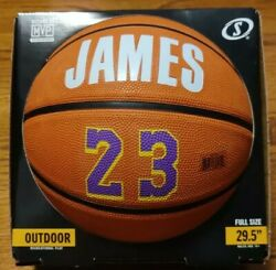 LEBRON JAMES SPALDING Outdoor Basketball 29.5quot; Full Size Lakers 23 $28.99