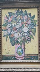 Henry Lawrence Faulkneroil on canvas kentucky EE. UU. art. antique with frame $10000.00