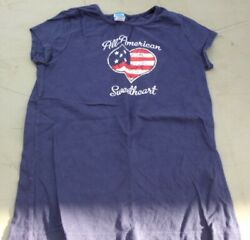 All American Sweetheart Girls Size Large 10 12 T Shirt $6.75