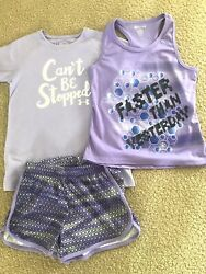 Girls 7 8 Under Armour 'Faster Than Yesterday' Shorts amp; Matching Tops New $12.99